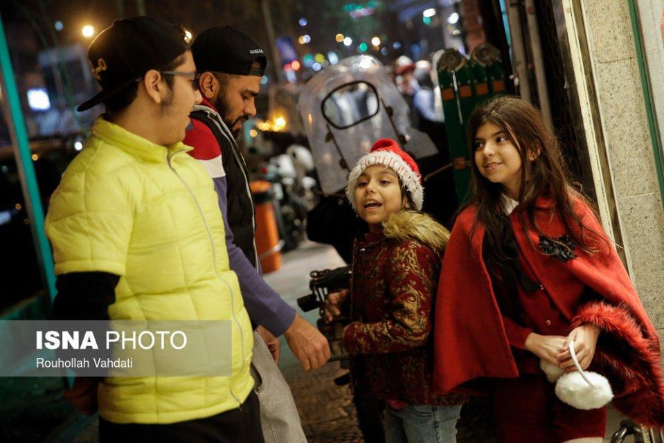 Christmas 2016/2017 in Tehran, Iran (Photo credit: Rouhollah Vahdati / ISNA)