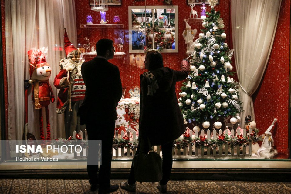 Christmas 2016/2017 in Tehran, Iran (Photo credit: Rouhollah Vahdati / ISNA)