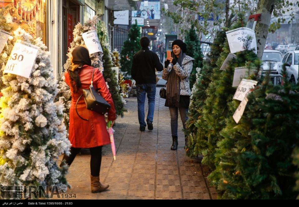 Christmas 2016/2017 in Tehran, Iran (Photo credit: IRNA)