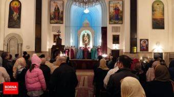 St. Grigor Lusavoritch Armenian Catholic Church in Tehran, Iran on December 31, 2016 (Photo credit: BORNA)