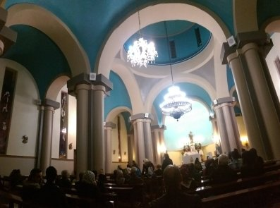 St. Joseph Assyrian Catholic Church in Tehran, Iran on December 24, 2016 (Photo credit: AFP)