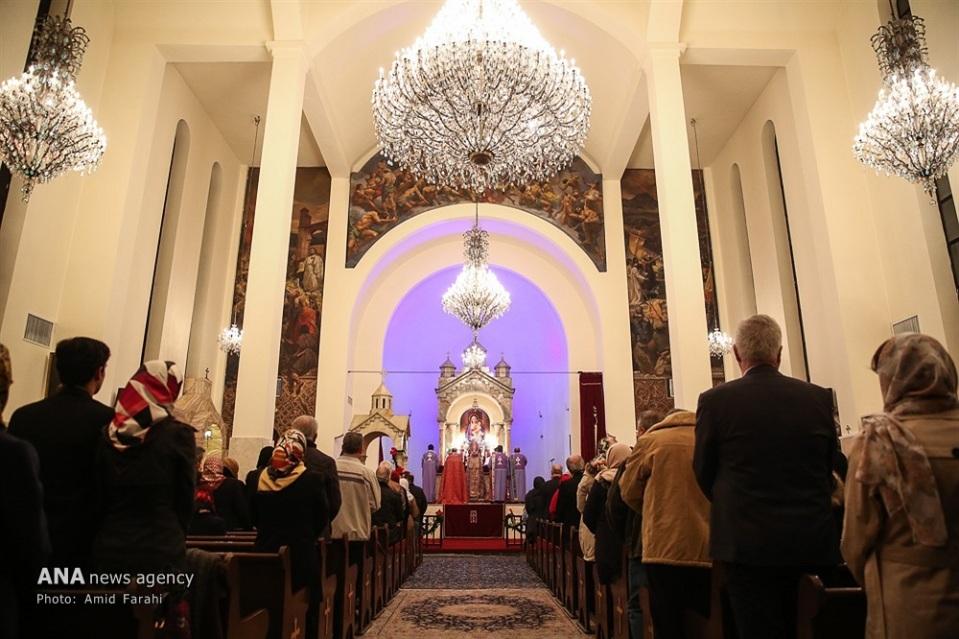 St. Sarkis Cathedral in Tehran, Iran on December 31, 2016 (Photo credit: Amid Farahi / ANA)