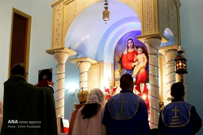 Surp Targmanchats Armenian Apostolic Church in Tehran, Iran on December 31, 2016 (Photo credit: Vahid Khodadadi / ANA)