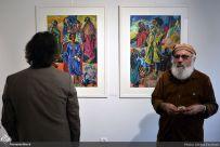 Artists: Aydin Aghdashloo, Hosein Ahmadinasab, Parvaneh Etemadi, Hannibal Alkhas, Naser Ovissi, Reza Bangiz, Sima Bina, Jazeh Tabatabai, Mahmoud Javadipour, Bahman Dadkhah, Mehdi Sahabi, Iraj Zand, Jahangir Shahdadi and Manocher Motabar, May 2017 in Tehran. Photo credit Alireza Farahani, Honar Online