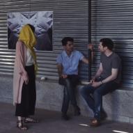 Works by R. Santaguida (Canada), F. Moraes (Brazil) and Naïmé Perrette (France) - Tehran, May 2017. Photo credit kooshkresidency, instagram