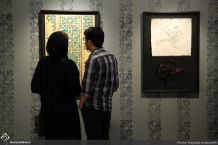 Works by Abolfazl Shahi, Zahra Ebrahimi, Iraj Eskandari, Neda Azami, Fereidoun Omidi, Samila Amir Ebrahimi, Masoud Babakhani, Ladan Borojerdi, Homayoun Salimi, Hamid Jafaree Shakib, Mehdi Hosseini, Setareh Hosseini, Behnam kamrani, Sorme Arab, Katayoun Golestanian, Navid Atrvash, Neda Ghayouri and Gizella Varga Sinaee. Tehran, May 2017. Photo credit Mojtaba Arabzadeh, Honar Online
