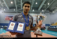 Amirhosseini Esfandiar (Iran) - Gold medal winner, MVP and best outside spiker. Photo credit Payam Sani, volleyball.ir / IRNA