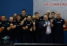 Iranian team waiting for their gold medals. Photo source fivb.com