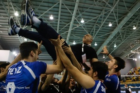 Iranian team celebrating after defeating Russia in the final 3 to 1. Photo source Payam Sani, YJC