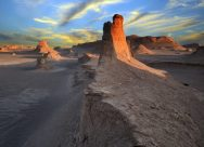Western Lut Desert, Kerman Province, Iran - Photo credit Mahdi Kalhor, wikimedia.org