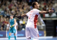 BERLIN - Indoor Hockey World Cup Bronze: Iran - Australia Iran won the 3rd place. foto: NOORANIAN Hamid. WORLDSPORTPICS COPYRIGHT FRANK UIJLENBROEK