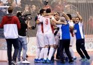 BERLIN - Indoor Hockey World Cup Bronze: Iran - Australia Iran won. foto: Iran celebrates their win. WORLDSPORTPICS COPYRIGHT FRANK UIJLENBROEK