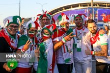 Iranian fans at Kazan Arena before Iran vs Spain (photo Borna Ghasemi)