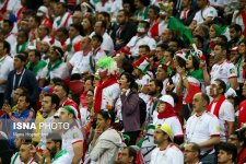 Iranian fans in Kazan Arena, Russia supporting their team during Iran vs Spain (photo Borna Ghasemi, ISNA)