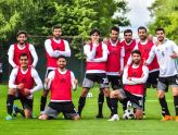 Iranian players during their training camp in Russia before the World Cup (photo credit sardar_azmoun, instagram.com)