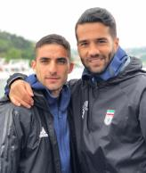 Iranian players Milad Mohammadi and Masoud Shojaei during their training camp in Turkey before the World Cup (photo miladmohammadi.official, instagram.com)