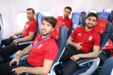 Iranian team on their way to Kazan for their match against Spain (photo credit teammellifootball, instagram.com)