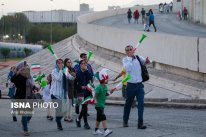 Iranian fans before the match on their way to Azadi Stadium, Tehran. Photo credit: Amir Kholousi, ISNA.