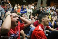 Iranian fans watching the match in Tehran. Photo credit: Reza Zangeneh, ISNA.
