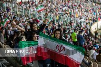 Iranian fans watching the match in Azadi Stadium, Tehran. Photo credit: Amir Kholousi, ISNA.