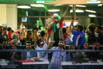 Iranian fans watching the match in Charsou Cineplex, Tehran. Photo credit: Mehran Riazi, ISNA.