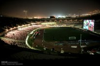 Iranian fans watching the match in Azadi Stadium, Tehran. Photo credit: Mohammad Mohsenifar, MEHR News Agency.