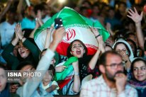 Iranian fans watching the match. Photo credit: Arya Jafari, ISNA.