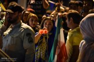 Iranian fans celebrating the victory of their team in Tehran. Photo credit: Behnam Tofighi, MEHR News Agency.