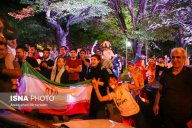 Iranian fans celebrating the victory of their team in Tehran. Photo credit: Abdolvahed Mirzazadeh, ISNA.