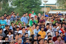 Iranian fans watching the match in Abbasabad, Hamedan. Photo credit: Behzad Alipour, FARS News Agency.