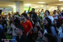 Iranian fans watching the match in Charsou Cineplex, Tehran. Photo credit: Alireza Farahani, Young Journalists Club.