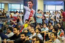 Iranian fans watching the match in Charsou Cineplex, Tehran. Photo credit: Nasim Aghaei, Young Journalists Club.